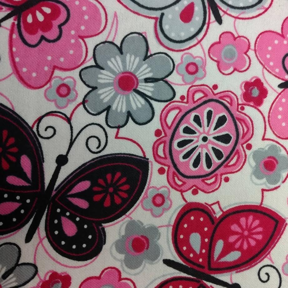 Pink and Grey Butterfly Liner