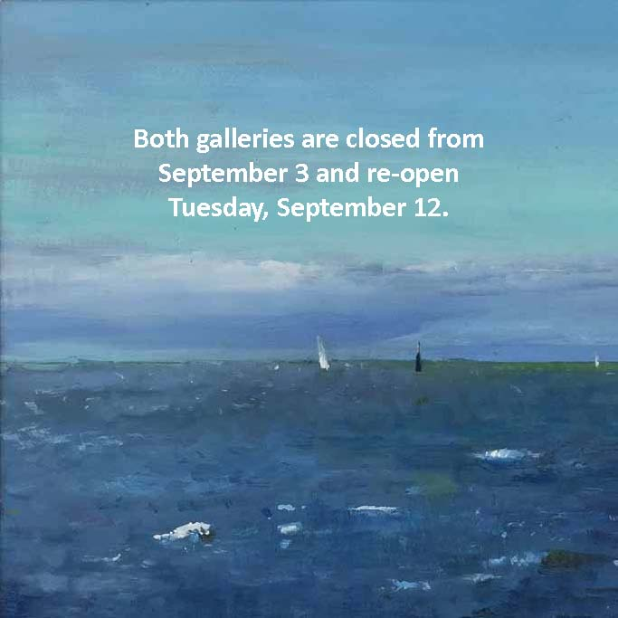 Both galleries are closed September 3 and re-open on September 12.