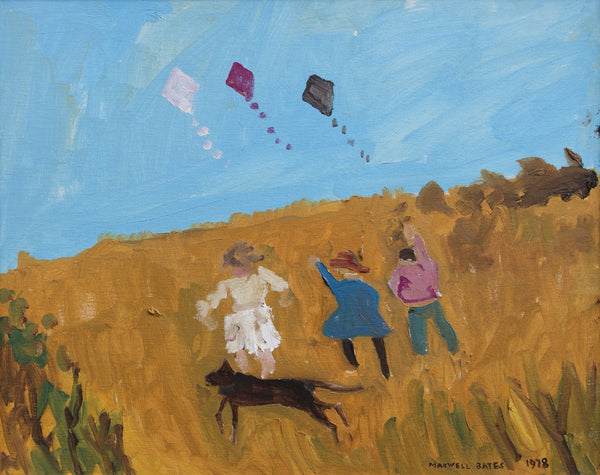Untitled (3 Children Flying Kites)