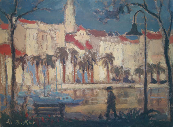 Sunlit Buildings, Adriatic Coast