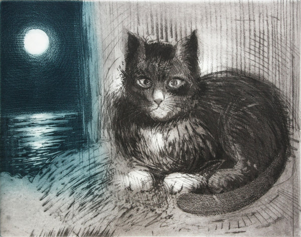 Study for Lone Mummer with Cat: Moon
