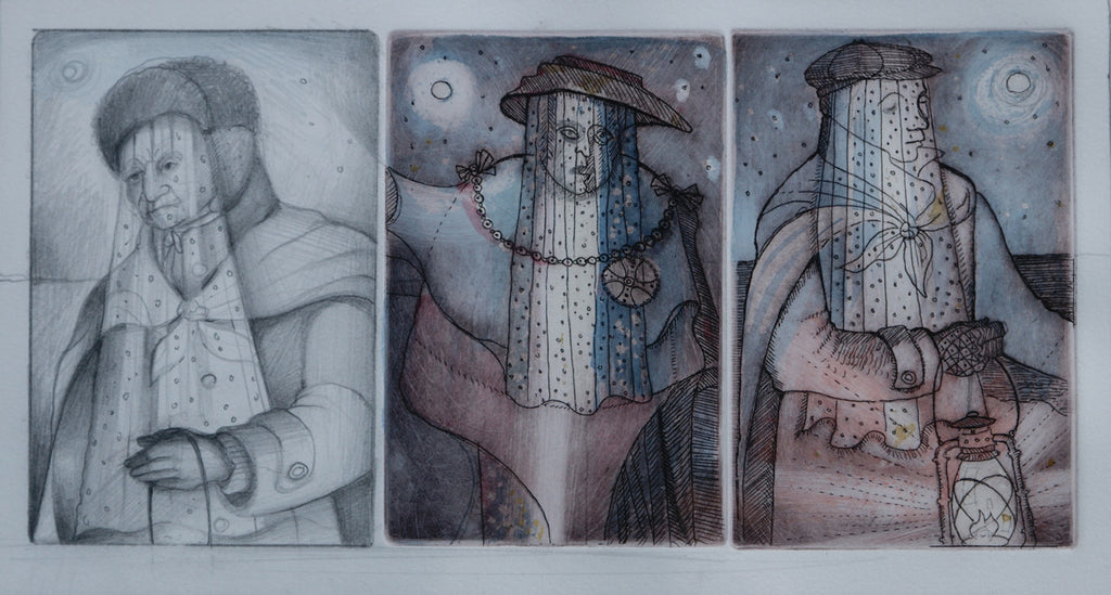 Study for Three Mummers
