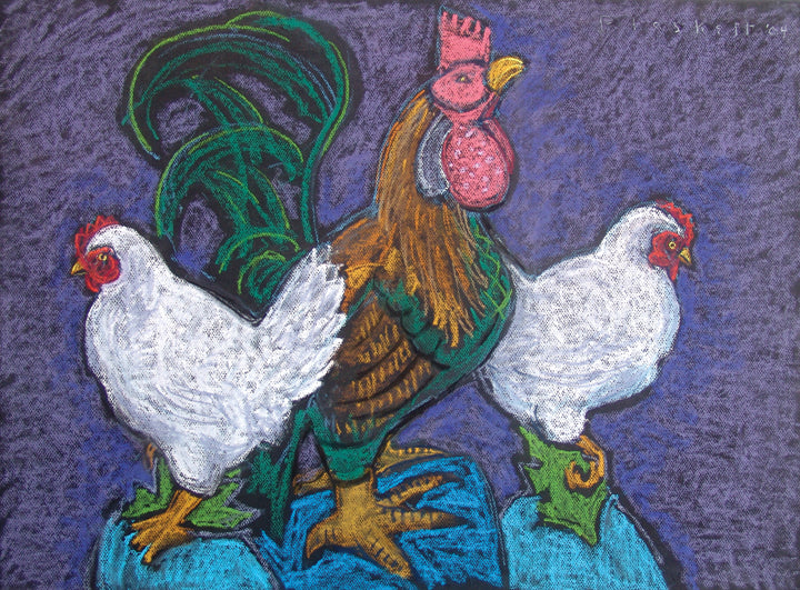 Rooster and Hens 13