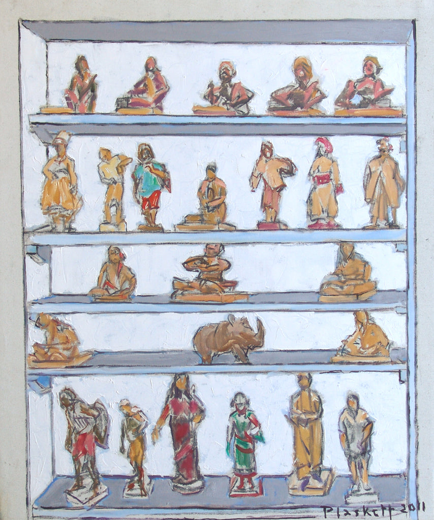 Shelves with Carvings from India