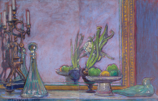 Still Life with Decanter, Hyacinth & Seagull