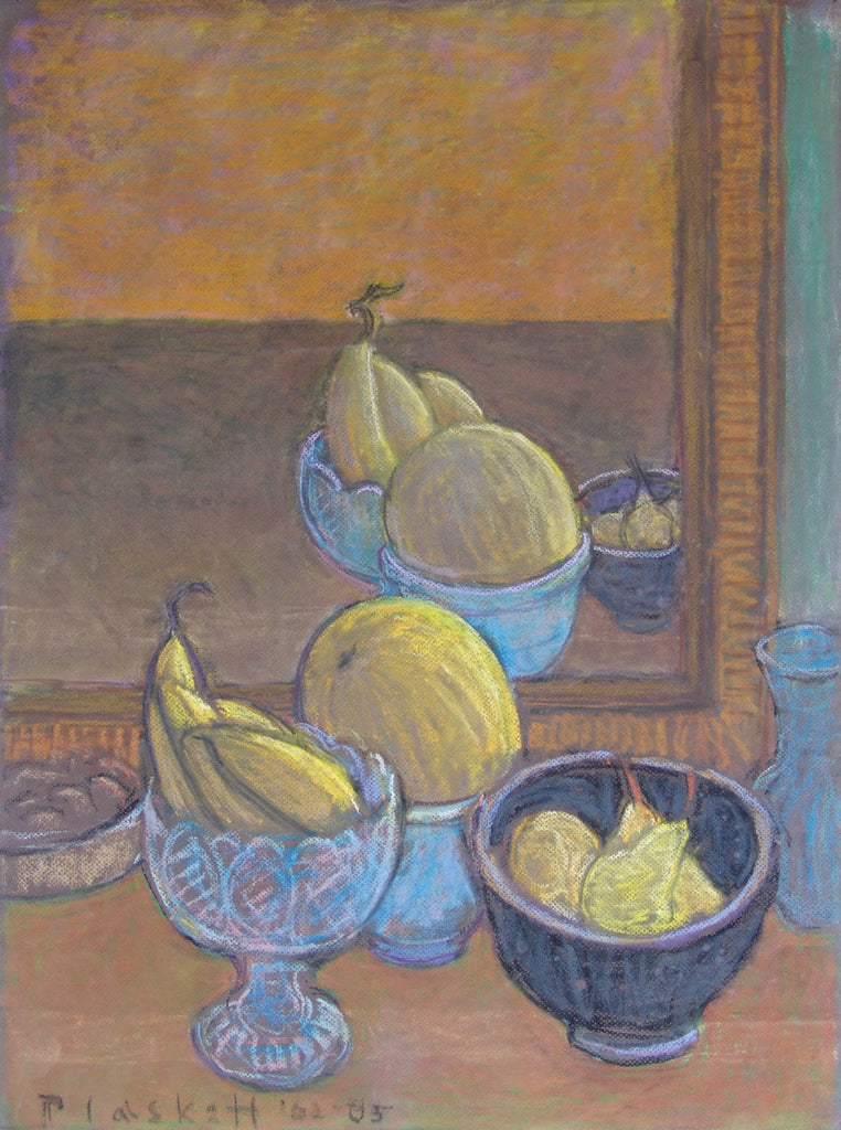 Still Life with Yellow Fruit, mirrored