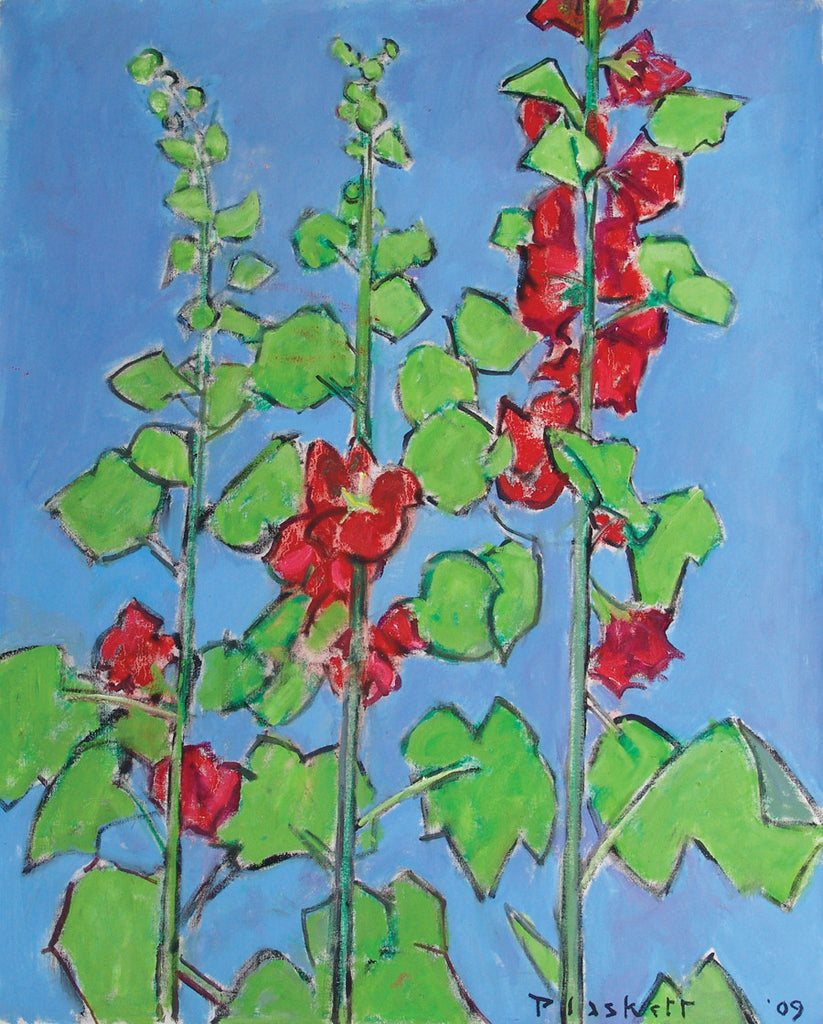 Three Hollyhock