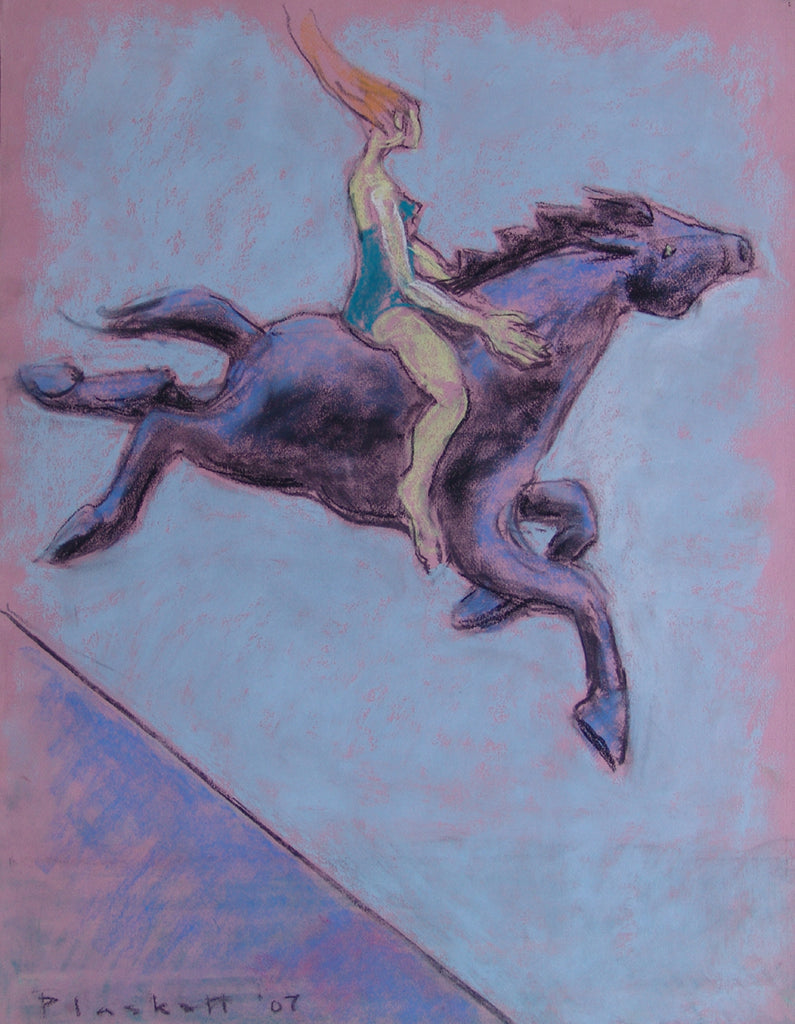 Woman Rider on Blue