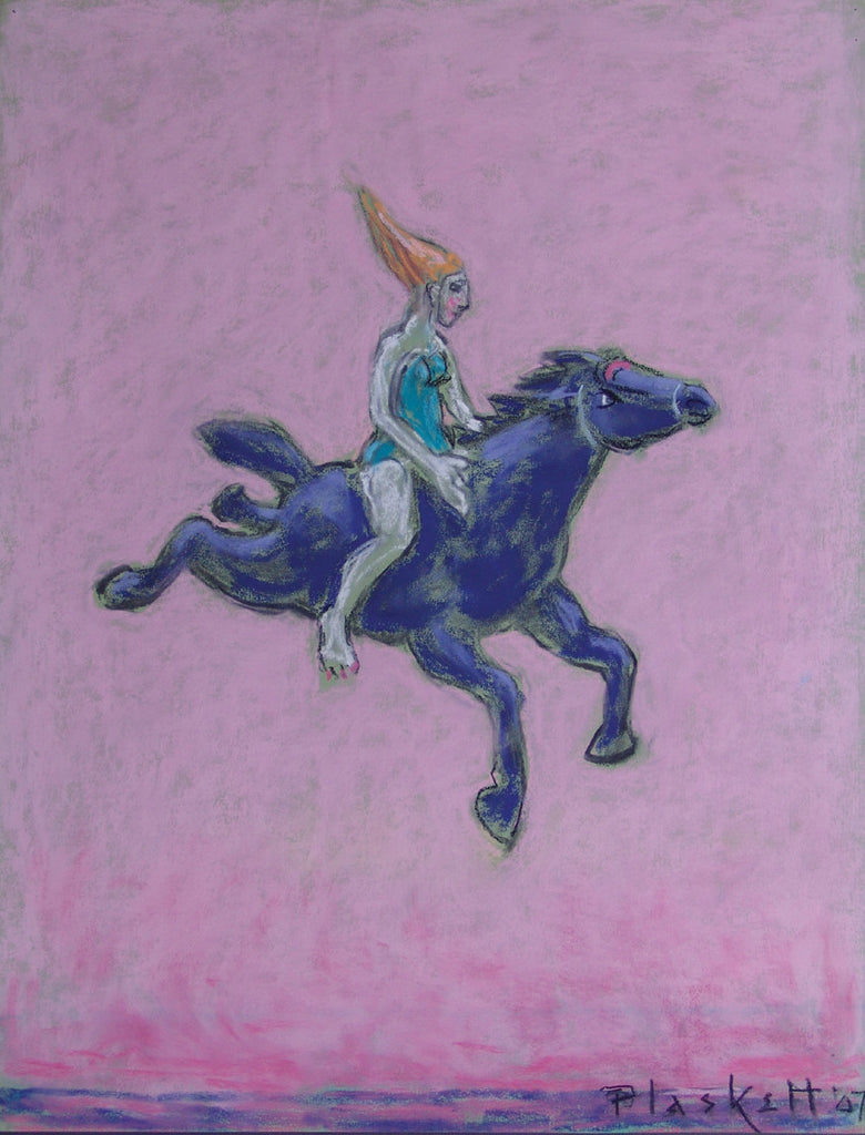 Woman Rider on Pink