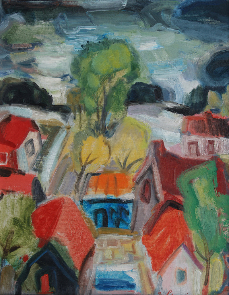 Untitled, trees and houses