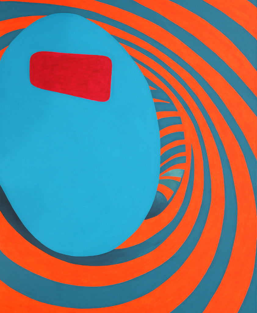 Room for Mystics, No. 3 (red eye, turquoise sphere)