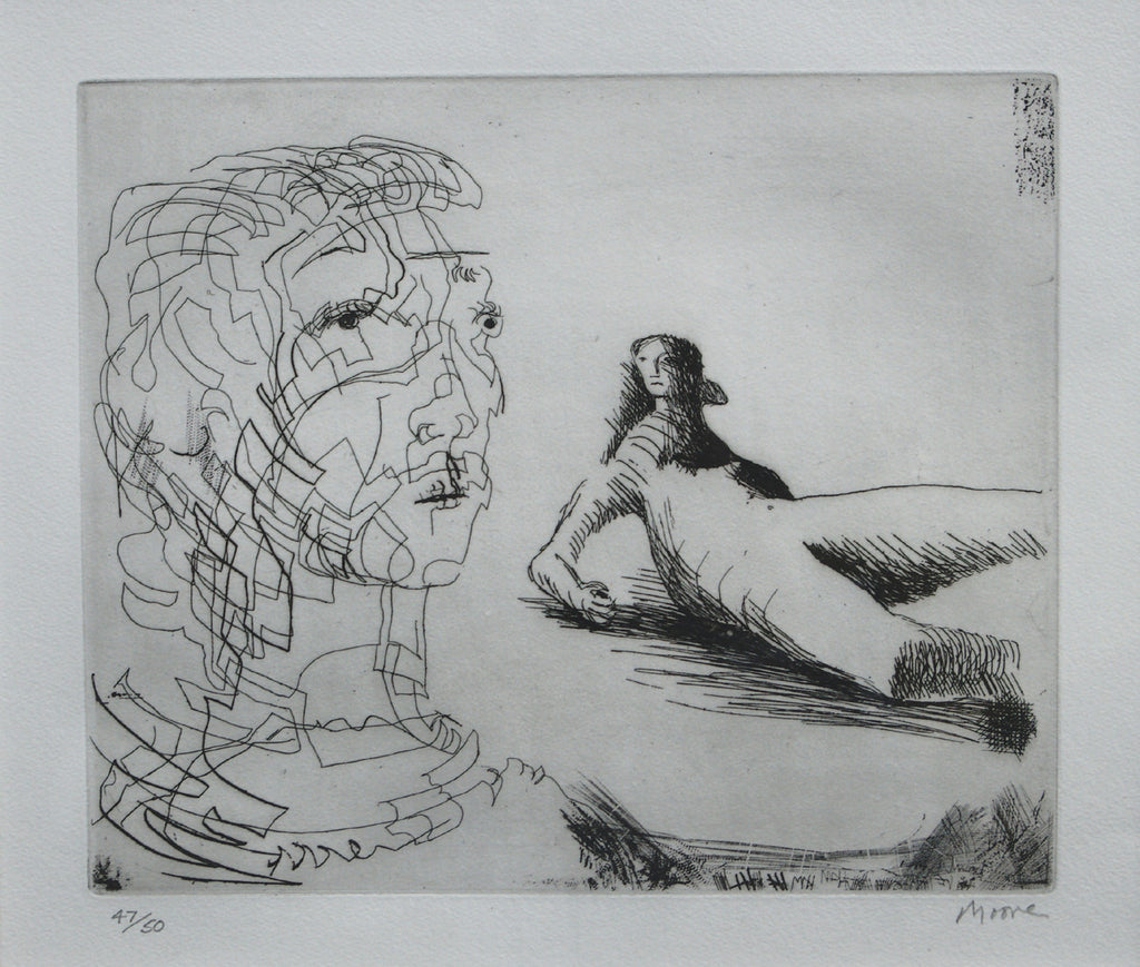 Head of Girl and Reclining Figure