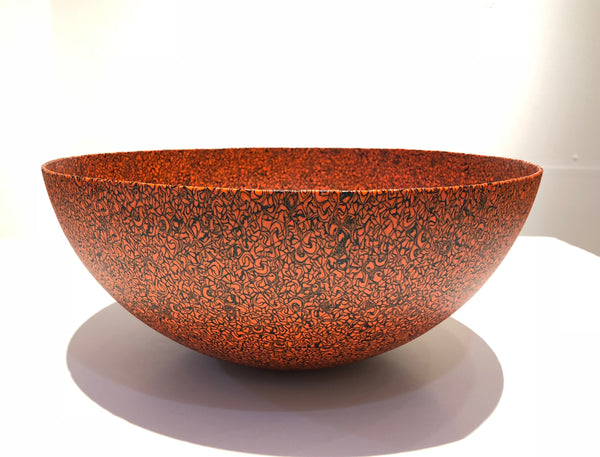 Medium bowl, red, black