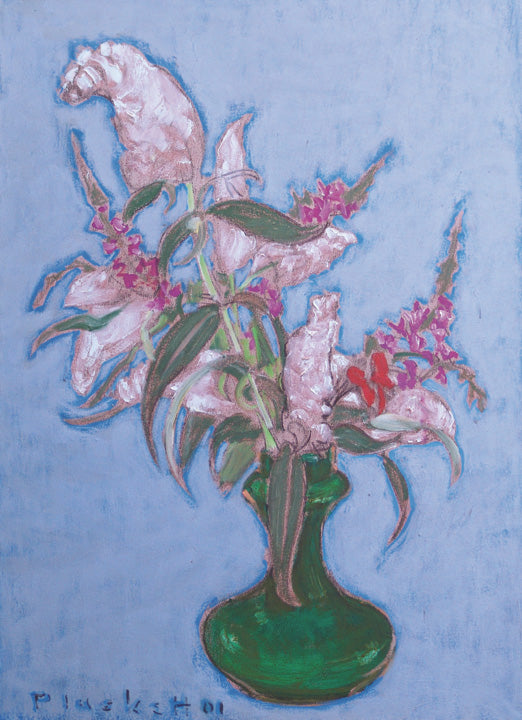 Buddleia and Green Vase
