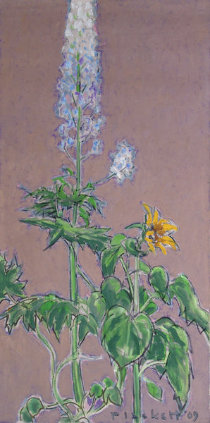 Delphinium & Sunflower
