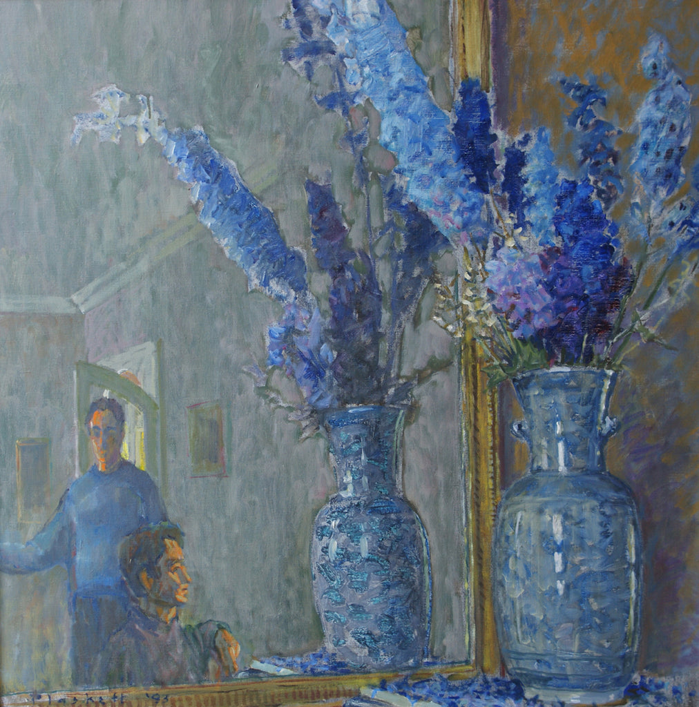 Delphiniums and Figures 1