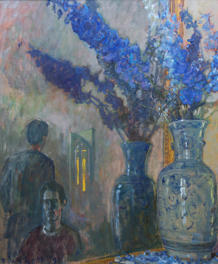 Delphiniums and Figures 2