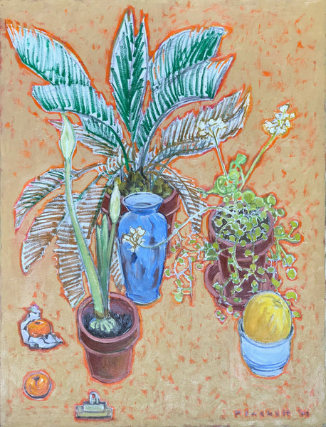 Still Life with Palm, Amaryllis & Melon