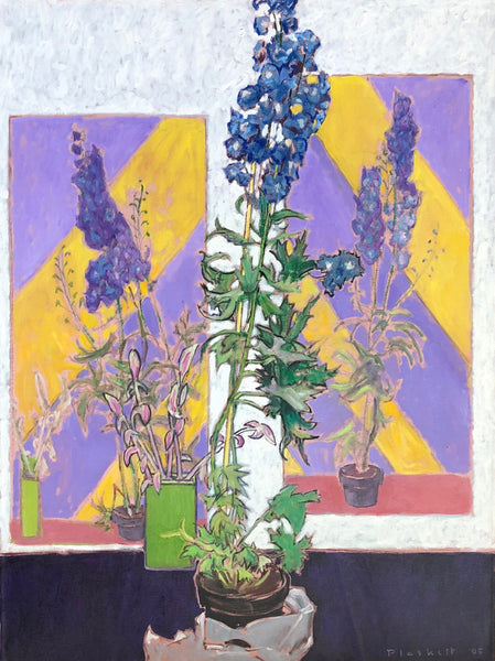 Three Paintings of Delphinium