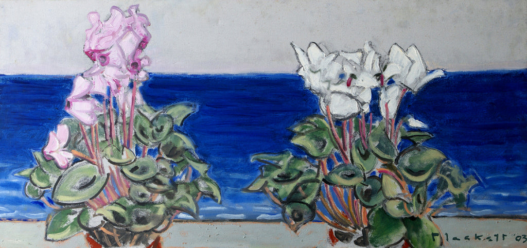 Two Cyclamen & Sea
