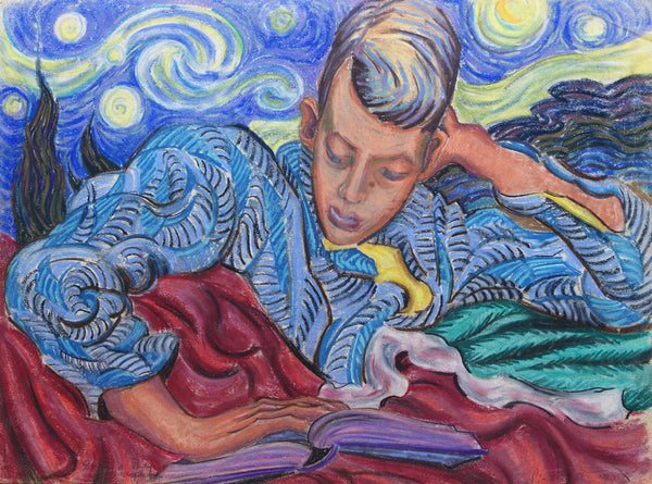 Untitled (figure reading)