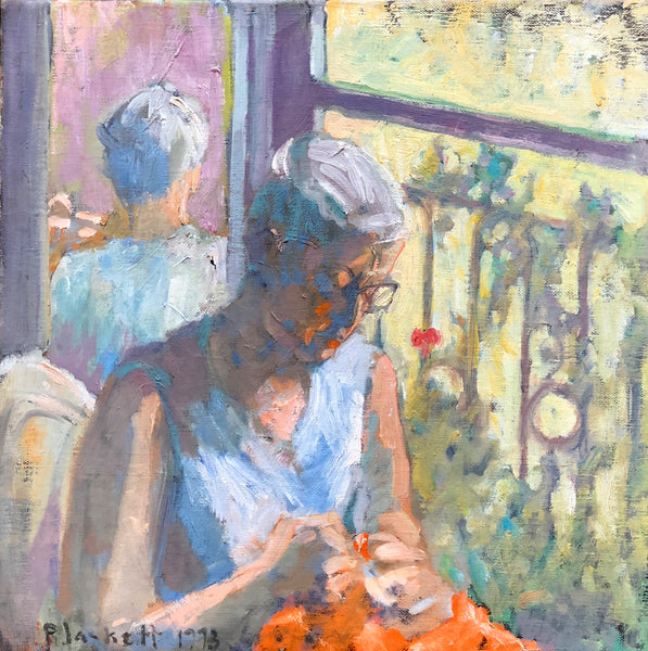 Untitled (woman knitting)