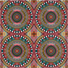 Load image into Gallery viewer, Tribal Kaleidoscope Shower Curtain