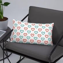 Load image into Gallery viewer, Chocolate Ancestor, LLC- Adinkra Akoma The Heart Symbol Basic Pillow ${varant_title} Pillow