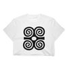 Adinkra Dwennimmen Ram's Horns Strength Symbol Women's Crop Top - Chocolate Ancestor