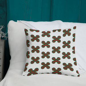 Chocolate Ancestor, LLC- Adinkra Mpatapo Knot of Pacification/Reconciliation Symbol Pillow ${varant_title} Pillow