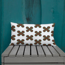Load image into Gallery viewer, Chocolate Ancestor, LLC- Adinkra Mpatapo Knot of Pacification/Reconciliation Symbol Pillow ${varant_title} Pillow