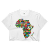 African Flags Ladies Crop Top - Chocolate Ancestor