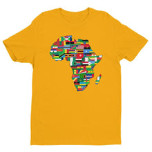 Load image into Gallery viewer, Chocolate Ancestor, LLC- African Flags Short sleeve fitted unisex t-shirt ${varant_title} Unisex T-shirt