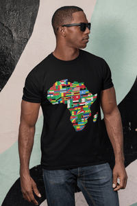 Chocolate Ancestor, LLC- African Flags Short sleeve fitted unisex t-shirt ${varant_title} Unisex T-shirt