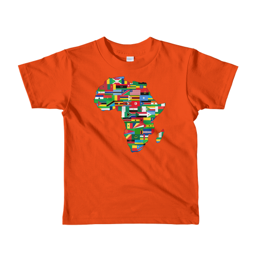 Chocolate Ancestor, LLC- African Flags Short sleeve kids t-shirt ${varant_title} kids T-Shirt