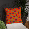 African Symbols Basic Pillow - Chocolate Ancestor