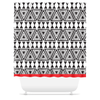 Afrocentric Geo Shower Curtains - Chocolate Ancestor