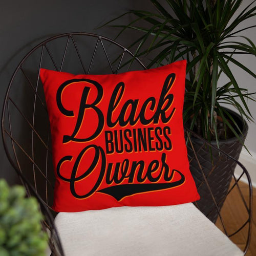 Chocolate Ancestor, LLC- Black Business Owner (Blk/Red) Square Pillow ${varant_title} Square Pillow