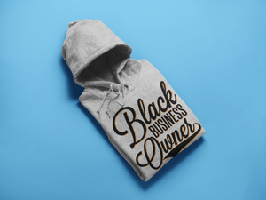 Chocolate Ancestor, LLC- Black Business Owner Cursive (Black) Unisex Hooded Sweatshirt ${varant_title} unisex hoodie