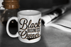 Black Business Owner Cursive Mug - Chocolate Ancestor