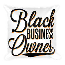 Load image into Gallery viewer, Chocolate Ancestor, LLC- Black Business Owner Cursive Square Pillow ${varant_title} Pillow