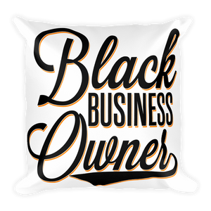 Chocolate Ancestor, LLC- Black Business Owner Cursive Square Pillow ${varant_title} Pillow