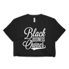 Black Business Owner Cursive (White) Short sleeve crop top - Chocolate Ancestor