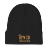 Black Excellence (Gold) Knit Beanie - Chocolate Ancestor
