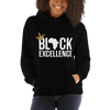 Black Excellence (White) Unisex Hooded Sweatshirt - Chocolate Ancestor