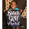 Black Girl Magic (Blk/Wht) Square Pillow - Chocolate Ancestor