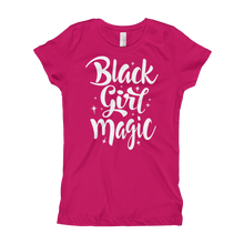 Load image into Gallery viewer, Chocolate Ancestor, LLC- Black Girl Magic Girl's T-Shirt ${varant_title} Girl's T-shirt