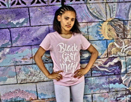 Chocolate Ancestor, LLC- Black Girl Magic Girl's T-Shirt ${varant_title} Girl's T-shirt