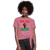 Black Lives Matter Pan African RBG Women's Knotted T-Shirt - Chocolate Ancestor