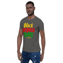 Load image into Gallery viewer, Chocolate Ancestor, LLC- Black on Both Sides (YRG) Short-Sleeve Unisex T-Shirt ${varant_title} unisex short sleeve shirt